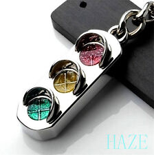 Mini Traffic Light Car Key Ring Chain Classic 3D Keyfob Keychain Ring Gifts