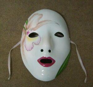 Porcelain mask Pelzman Designs Designer 1983 Vandor Japan Face and leaves