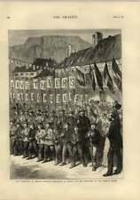 1873 Liberation Of French Territory Belfort German Troops Leave