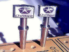 2- Cribbage Pegs Dodge Chryster Quality Metal USA With FREE Velvet Pouch '