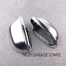 Paar Chrom Alu Spiegel Abdeckung Spiegel Kappe For Audi A4 B8 A6 C6 A5 8T A3 8P