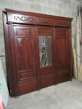 ~ Antique Carved Oak Closet Front ~ Built In Armoire~ 92 x 92 ~ Salvage