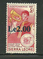 Album Treasures Sierra Leone Scott # 299  2le on 1 Pound Bugler VF Used CDS