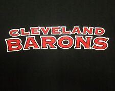 CLEVELAND BARONS throwback lrg T shirt San Jose Sharks hockey tee AHL lettering