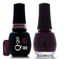 Gel & Polish QRS Beauty Combo MAT420 Raisin Purple Color