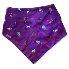Red Hat Society Scarf Cats In Hats Purple & Red