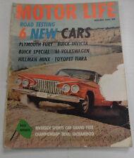 Motor Life Magazine Plymouth Fury Buick Invicta January 1961 040317nonr