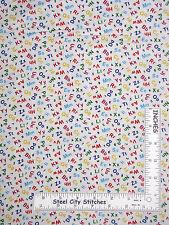 School Teacher Fabric - Alphabet Number Classroom #472 Elizabeths Studio - Yard