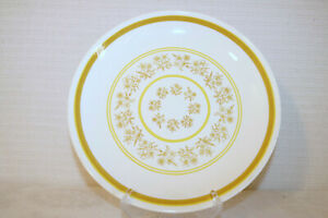 """ROYAL CHINA QUEENS LACE Made in USA Yellow Tan Flowers 11 5/8"""" Round Chop Plate"""