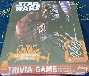 Disney Star Wars Trivia Game w/ Lightsaber Puzzles (Cardinal) SEALED Tin, NEW