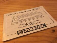 Pointer XP980 autoradio cassette notice utilisation mode d' emploi éd. 98