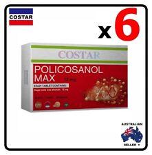 6 x Costar Policosanol Max 12mg 60 Capsules