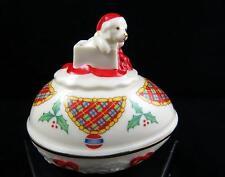 "Vintage Lenox Usa The Christmas Surprise Collector Egg Shape 3"" Trinket Box 1994"