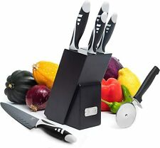 7PCS Professional Kitchen Knife Chef Set, 5PCS Knife Set With Block, Kitchen Kni