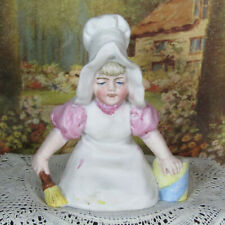 Antique SUNBONNET BABIES GIRL DOLL Bisque Victorian Figurine German Piano Baby