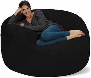 Chill Sack Bean Bag Chair: Giant 5' Memory Foam Furniture Bean Bag - Big Sofa wi