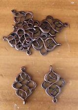 Antique Copper Filigree Celtic Connectors x 15