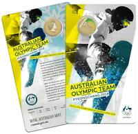 2018 Australian Olympic Team Pyeongchang Coloured One Dollar - UNC