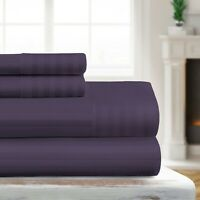 Luxury Ultra Soft Striped Embossed Sheet Set by Sharon Osbourne Home