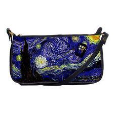 NEW Tardis Vincent Van Gogh Doctor Who Starry Night Shoulder Clutch Hand Bag