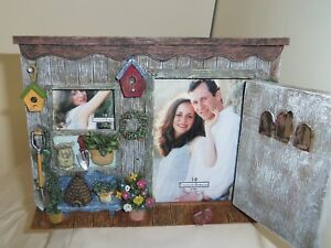 Garden Tool She-Shed Ganz rustic stone resin picture photo frame display ED9154A
