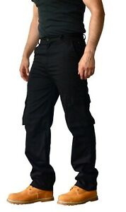 Mens Cargo Combat Casual Work Trousers Pants 6 Pocket Design 30W to 42W Turners