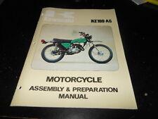 OEM Factory Kawasaki Assembly & Preparation Manual 1977 KE100 A6 24 Pages