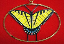 Charlie/ Charley Harper - Brass Ornament - TIGER SWALLOWTAIL - fun butterfly art