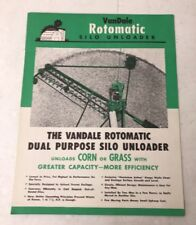 The VanDale Rotomatic Silo Unloader - Antique Promo Advertising Brochure 1950s