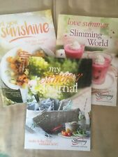 Slimming World Summer Booklets Recipes Original Green Bundle X 3 Books Journal