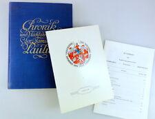 Familienbuch der Familie PAULUS 1931 + Nachtrag 1966 Chronik Familybook Family