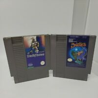 Solstice & Deadly Towers Game Lot Nintendo Nes Tested Authentic Great Condition