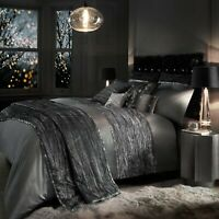Kylie Minogue Bedding ZANDER Silver Slate Grey Duvet Cover, Cushions or Throw