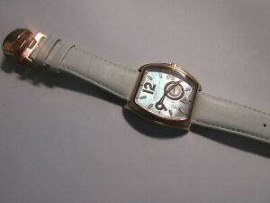Charles Hubert WHITE Strap/ ROSE GOLD plated Automatic Watch R.R.P £390 +
