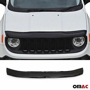 Fits Jeep Renegade 2015-2020 Front Bug Shield Hood Deflector Protector Black