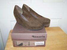 TAMARIS Trend GINA Moss Wedge Womens Court Shoes UK-5 EU-38