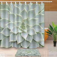 Cortina de Ducha Tropical Cactus Impermeable Poliéster Sabor Natural Mat Set 6484