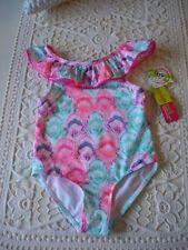 ed510507767a6 PENELOPE MACK BADEANZUG BIKINI Gr. 104 grün weiß pink lachs NEU! 50+ UV
