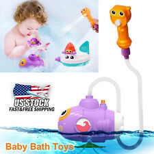 Baby Kids Toddler Bath Fun Toys Tub Shower Bathroom Submarine Water Pump Spray
