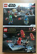 SET BOITE LEGO STAR WARS 75266 75267 MANDALORIAN  +  SITH  TROOPERS BATTLE PACK
