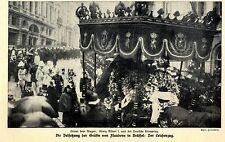 Die Beisetzung der Gräfin von Flandern in Brüssel Historische Aufnahme von 1912