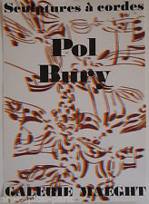 BURY POL AFFICHE 1974 TIRÉ EN LITHOGRAPHIE MAEGHT ARTE PARIS LITHOGRAPHIC POSTER