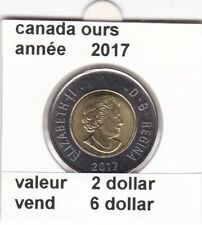 C 1 )pieces de 2 dollar  canada 2017 ours