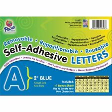 "Pacon Self-Adhesive Letters 2"" 159 Characters Blue 51653"