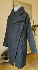 Vera Moda Boucle Wool long Coat Jacket Size XS