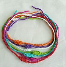 7 Bracelet Rope Sai Sin Lp Lek Yant Thai amulet Rich Wealth Luck Protect Lifet