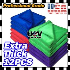 Bulk Pack Microfiber Cleaning Cloth No-Scratch Rag Car Polishing Detailing Towel