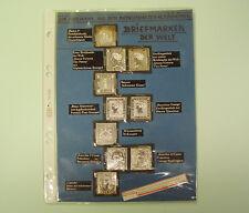 """""""Die berühmtesten Briefmarken der Welt"""" aus insges. ca. 80 g Feinsilber"""