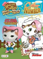 New Sheriff Callie 48-Page Color by Number Coloring Book with Color Guide