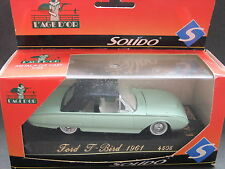 Solido Age d'Or 1961 Ford Thunderbird Convertible 1/43 Scale - Light Green 4505